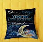 Donald Duck and Daisy Duck I Love You To The Moon And Back Wife Pillow cover