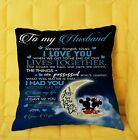 I Love You To The Moon And Back Mickey Minnie To My Husband Pillow cover