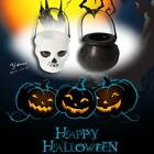Halloween Props Plastic Witch Cauldron Skull Pot Candy Kettle Decor T1Y5 S1P6