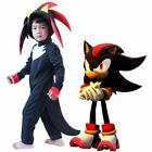 Boys Kids Sonic The Hedgehog Jumpsuit +Glove Cosplay Costume Fancy Dress Outfits