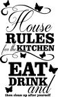Kitchen House Rules Wall Art Sticker Home Decor Quality Diy Decal Quotes