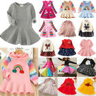 Toddlers Baby Girls Jumper Winter Long Sleeve Swing Pullover Dress Christmas