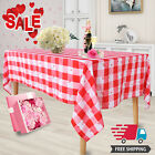 Valentine's Day Tablecloth Heart Shaped Table Cover Children Couples Party