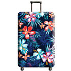Suitcase Flowers Print Protector Cover 18''-32'' Dustproof Anti-Scratch LuggageH