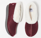 CLOUDSTEPPERS by Clarks Faux Fur & Felt Slippers Step Flow Low Maroon