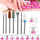 7Pcs Nail Drill Bits Set For Acrylic Nail Cuticle Clean Gel Remove Nail Care