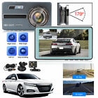 "4.5"" 1080P Dual Dash Cam Front Rear Camera Video G-sensor Night Vision Recording"
