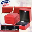 Led Lighted Ring Necklace Box Jewellery Case Holder Jewelry Display Gift Pendant