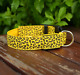LED Dog Collar Safety Adjustable Nylon Leopard Pet Collar Safety Light Up Nylon