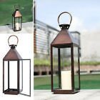 Garden Candle Lantern Outdoor Windproof Glass Metal Lamp Tea Light Candle Holder