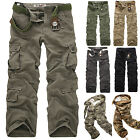Mens Army Cargo Pants Camo Combat Military Trousers Camouflage Casual Bottoms