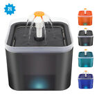 2L Cat Water Fountains Non-slip LED Automatic Pet Drinking Bowl Feeder  Filter