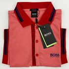 Hugo Boss Polo Men Cotton stretch Fabric short Sleeve Regular fit color Coral