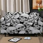 3D Skull Gothic Sofa Chair Couch Cushion Stretch Cover Slipcover Set Decor