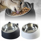 200ml Cat Bowl Raised No Slip Stainless Steel Elevated Stand Tilted Feeder Bowl