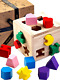 Jaques Of London | Shape Sorting Cube | Shape Sorter | Perfect Wooden Toys For 1