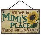 Mimi's Place Vtg Style Sign with Sunflower Grandma Grandmother Welcome Gift