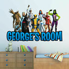 Personalised Avengers Fortnite Wall Sticker Art Decal Kids Bedroom Decoration