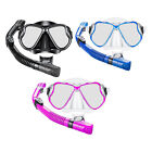Professional Scuba Dive Snorkeling Silicone Mask Dry Snorkel Tube Gear Set