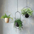Chain Hanging Metal Pot Plant Basket Hanger Planter Flower Pot Plant Home Decor
