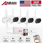 WiFi Security Camera System Outdoor 3MP 8CH Audio 1TB HDD 5MP NVR Pan Rotate Kit