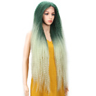 Lace Front Long Yaki Wavy For Woman Wigs Synthetic Heat Resistant Wigs New 38''