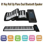 61  Key Soft Keyboard Piano Roll Up Rechargeable Piano Dual Bluetooth Speakers