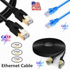 Ethernet Cable CAT6 CAT7 CAT8 High Speed LAN Patch Shielded Cord Wire 3~50ft Lot