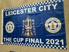 Leicester City Cup final Flag 5x3 ft with sleeve for stick - next day deliveryPennants/ Flags - 53615