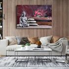 Buddha Flower Wall Art Canvas Poster and Print Wall Picture Living Room