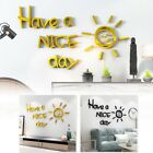 Wall Sticker Have A Nice Day Acrylic Mirror Home Decoration Waterproof