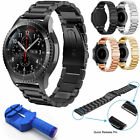 For Samsung Galaxy Gear S3 42mm/46mm Watch Band Stainless Steel Metal Link...