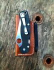 Spyderco paramilitary 2 Leder Pouch Etui Pullup Fischer Space