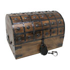 Nautical Cove Pirate Treasure Chest with Iron Lock and Skeleton Key - Wooden Sto