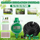 15M~50M Automatic Drip Irrigation System Plants Self Watering Timer Garden