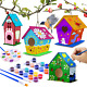 4 Pack hapray Bird House Kit Wooden Crafts Arts For Children NEW photo