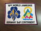1999 World Jamboree Germany Contingent back patch        td
