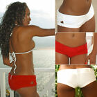 Xposed Skinz Bikinis x755 Pier Cheeky Beach Shorts Bottoms Cover-Up Red Natural