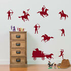 Cowboys and Indians Wall Stickers Childrens Room Diy Removable Vinyl Decals A190