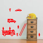 Fire Engine Team Wall Stickers Children's Room Diy B Removable Vinyl Decals A16