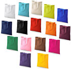 COTTON SHOULDER TOTE SHOPPING BAGS 16 COLOURS