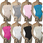 Ladies Strapless Bodysuit Womens Bandeau Tops Sz 8-14