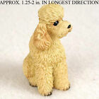 Poodle Mini Resin Dog Figurine Apricot Sport Cut