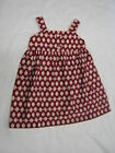 GIRLS  DRESS WITH STRAP  , RED / BEIGE