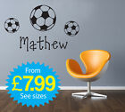 Wall Stickers, kids, Personalised Names - Boys Footy