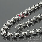 Mens 9MM Stainless Steel O-ring ROLO Chain Necklace