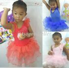 Girl New Party Leotard Ballet Dance Tutu Dress SZ3-9Y