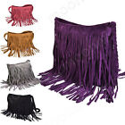 Women Soft PU Leather Tassels Hobo Clutch Purse Handbag Shoulder Totes Bag