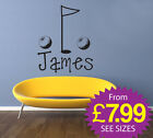 Wall Stickers, kids, Personalised Names, Removable stickers - Boys Golf