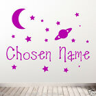 Wall Stickers, kids, Personalised Names, Removable stickers - Stars & Moon